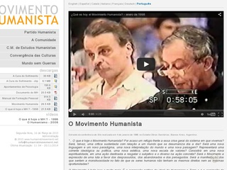 Imagem do site do Movimento Humanista